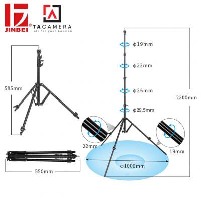 Chân đèn gấp ngược JinbeiMG-2400