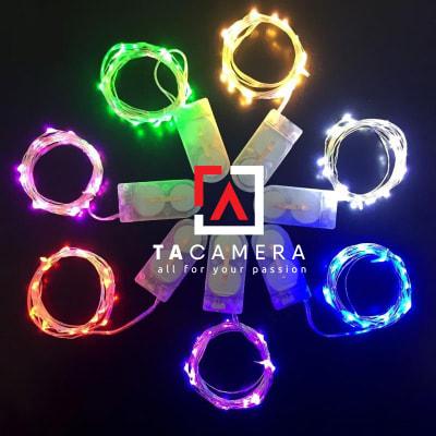 LED Fairy Lights - Đèn Đom Đóm - Size 2m 20 Bóng Nguồn Pin 2032