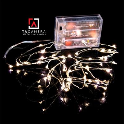 LED Fairy Lights - Đèn Đom Đóm - Size 10m 100 bóng - Nguồn pin AA