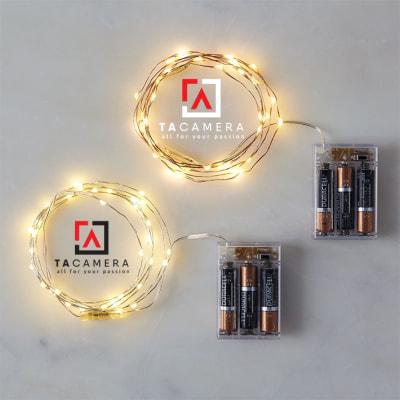 LED Fairy Lights - Đèn Đom Đóm - Size 5m 50 bóng - Nguồn pin AA