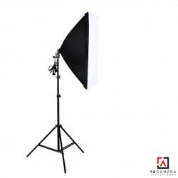 Bộ Kit E27 Kèm Softbox 60x90cm + Chân Đèn 2,8m (chân lớn)