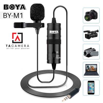 Micro Ghi Âm Cài Áo Boya BY-M1 (Chính hãng)
