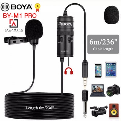 Microphone Thu Âm Cài Áo BOYA BY-M1 PRO Giảm Ổn (Chính Hãng)