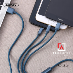 Cáp sạc 3 in 1 Lightning - Micro USB - Type C - Remax RC-131TH