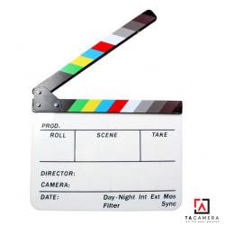 Bảng Clapper Board - Phụ Kiện Chụp Ảnh Quay Phim - Nhựa 25x30cm
