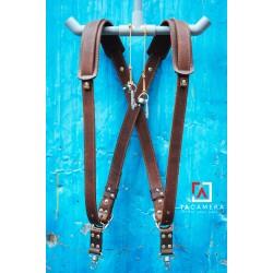 Dây Đeo 2 Máy Ảnh - Double Strap Da Bò Handmade TA5002