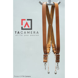 Dây Đeo 2 Máy Ảnh - Double Strap Da Thật Handmade TA5003