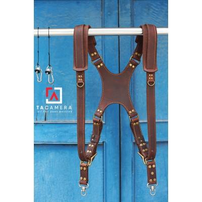Dây Đeo 2 Máy Ảnh - Double Strap Da Bò Handmade TA5009