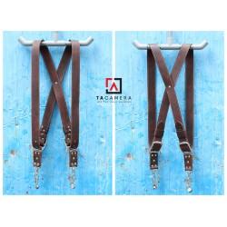 Dây Đeo 2 Máy Ảnh - Double Strap Da Bò Handmade TA5010