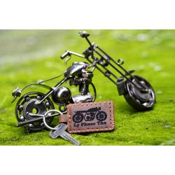 Móc khóa Da Bò khắc Tên TA5041